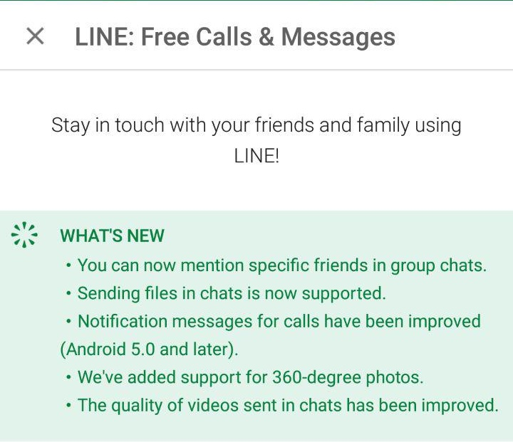 LINE Mentions
